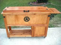 decoration custom rustic benches shelves coolers ice chests birdhouses trash quart wooden patio cooler chest costco