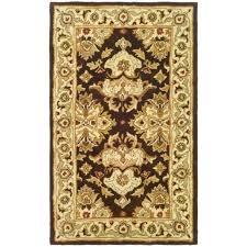 safavieh handmade heritage timeless traditional dark mocha ivory wool rug 2