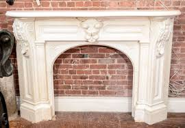 white arched victorian mantel with corbels 2