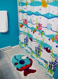 cool shower curtains for kids. Majestic Kids Bathroom Sets Cute Design With Sea Themed Shower Curtain And Fish Shaped Cool Curtains For E