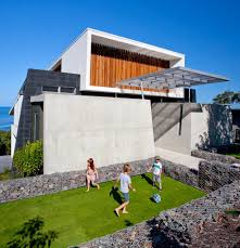 architecture small garden with green grass and stone fence ideas contemporary beach house design with