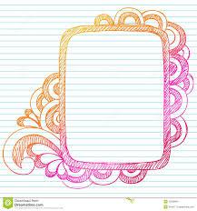 Easy Frame Design Drawing Hand Drawn Sketchy Doodle Frame Stock Vector Illustration