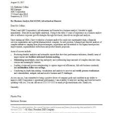 Business Analyst Cover Letter Sample Monster Within Business Cover