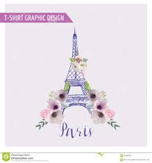 Paris Graphic Designer Floral Paris Graphic Design Stock Vector Illustration Of