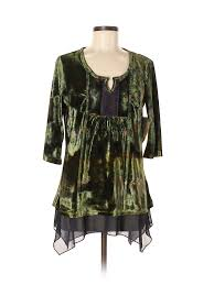 One World Dress Size Chart Details About Nwt One World Women Green 3 4 Sleeve Top Med Petite