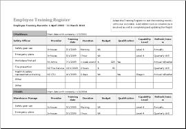 Employee Training Template Excel Under Fontanacountryinn Com
