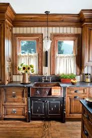Small rustic kitchen with good details. I love the cabinets on the side of  the