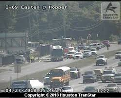 a metro bus was involved in a crash along the eastex freeway according to metro