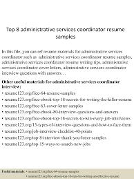 topadministrativeservicescoordinatorresumesamples lva app thumbnail jpg cb