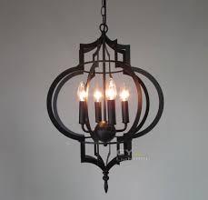 candle decorative modern pendant lamp. ac100240v 4260cm 4pcs e14 candle lantern chandelier light fixtures metal cage modern decorative pendant lamp v