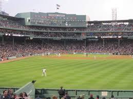 Fenway Park Section Bleacher 41 Row 21 Seat 14 Boston