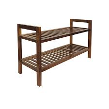 all set 2 tier brown wooden shoe rack bunnings warehouse pertaining to plan 19