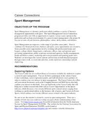 Sports And Event Management Resume Sales Management Objective For
