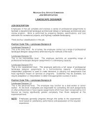 Intermediate Designer Job Description Lovely Free Landscape Designer Job Description Templates