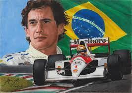 Ayrton Senna McLaren Honda - AR_motorsport.art - Draw to Drive