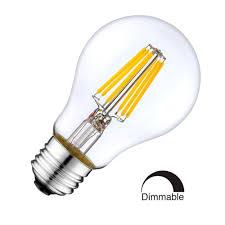 8w Led Filament Bulb E27 Retro Style Classic Glass Warm White 2700k