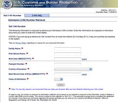 i 94 form to print arriving nonimmigrants advised to print i 94 hmr r