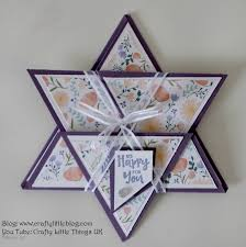 Crafty Little Blog Star Fold Floral Card