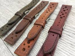 luxury racing leather watch straps