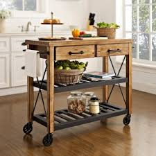 rustic portable kitchen island. Crosley Roots Rack Industrial Kitchen Cart Rustic Portable Island A