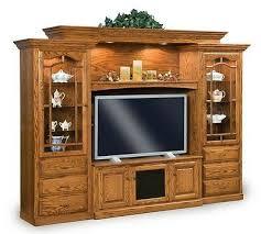 amish tv entertainment center solid oak