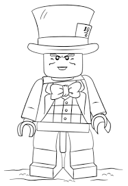 Small Picture Lego Mad Hatter coloring page Free Printable Coloring Pages