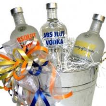 absolut vodka deluxe gift basket