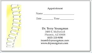 Appointment Cards Template Word Appt Reminder Cards Appointment Template Free Pediatrician Business