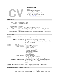 Resume Format For Assistant Professor In Cse It Resume Cover