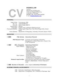 Resume Format For Assistant Professor In Cse