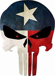 Pin by Darrell Smith on Stickers | Punisher skull, Texas tattoos ...
