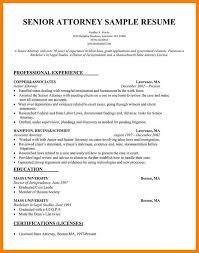 10 Sample Attorney Resume Wsl Loyd