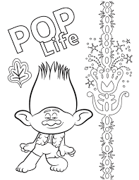 The trolls coloring page turn on the printer and click on the design from the trolls. Free Trolls World Tour Coloring Pages And Printable Activities