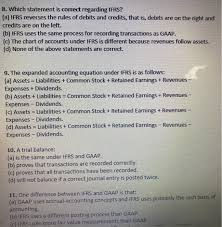 Solved 8 Which Statement Is Correct Regarding Ifrs A