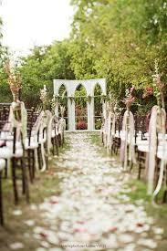 Such an enchanting garden wedding ceremony setup