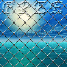 steel wire lock stock photos pictures royalty steel wire steel wire lock an illustration for dom a link fence over a sunny sky