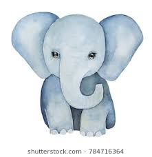 baby elephant drawings. Fine Elephant Cute Little One Baby Elephant Painting Huge Ears Lovely Eyes Grey Blue Intended Baby Elephant Drawings