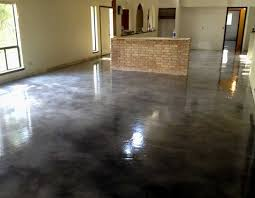 paint concrete floorsPainting concrete floors with black gloss paint  grdient office