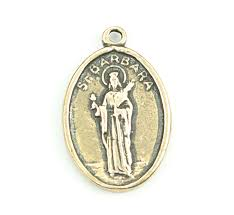st barbara religious coin pendant 3685