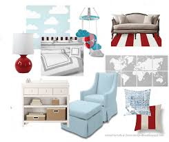 grey and white crib bedding 169 00 red gumball lamp 89 00 sofa 1499 00 red and white striped rug 275 00 world map wall art 175 00
