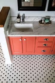 bathroom remodel black vanity. Contemporary Bathroom Overhead Shot Of Master Bathroom Remodel  Black And White Hex Tile Coral  Vanity Inside Bathroom Remodel Black Vanity