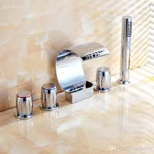 bathtub faucet set bathtub faucet shower brass hot and cold deck mounted waterfall faucets rainfall hand