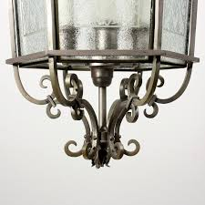 large antique six light art deco lantern with its original etched glass salvaged out of st louis mo and dating from 1925 this darkened nickel fixture