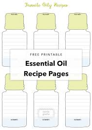 Free Printable Essential Oil Recipe Pages Tortagialla