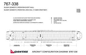 Qantas Airlines Boeing 767 300 Aircraft Seating Chart