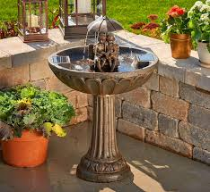 this solar powered fountain makes