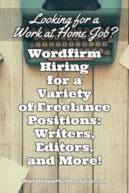 best images about work from home work from home wordfirm is seeking lance writers editors graphic designers and indexers these are independent contractor positions awesome work at home