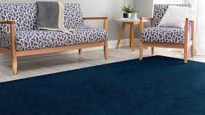 velour dark blue rug