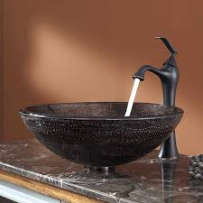 copper illusion glass vessel bathroom sink com vessel bathroom scenic