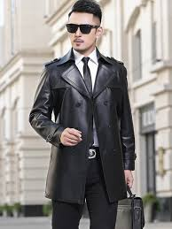 2019 2019 new mens long leather trench coat real genuine leather jacket men luxury claasical style mens jackets and coats from laftfly 371 39 dhgate com